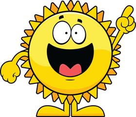 Cartoon Sun Pointing