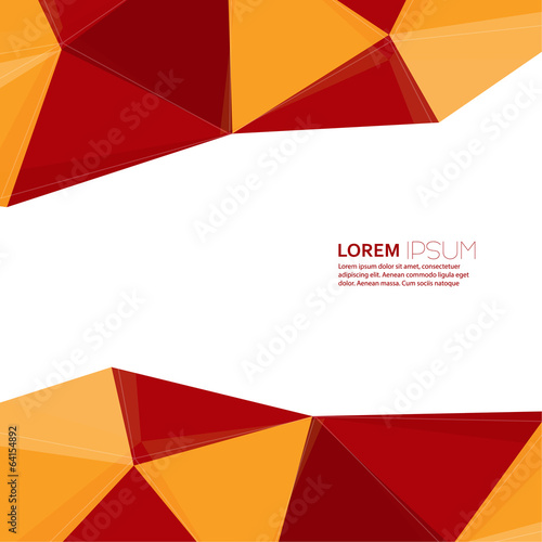 Abstract background with triangles and polygonal shapes.