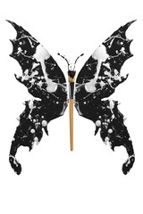 Black and white paint made butterfly