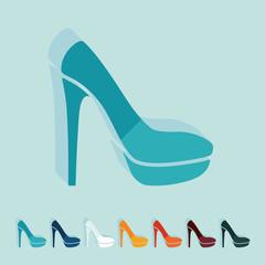 Flat design: shoe