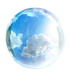 sky in glass bubble