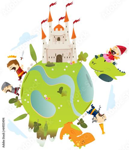 conte dragons et princesse - 64155494