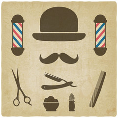 barber old background