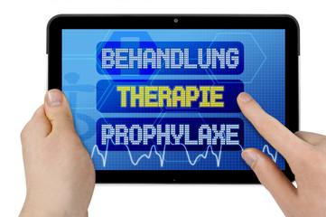 Tablet mit Interface und Behandlung, Therapie und Prophylaxe