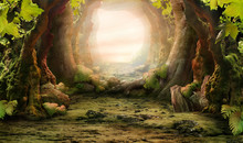 "Постер, картина, фотообои ""romantic forest view"""