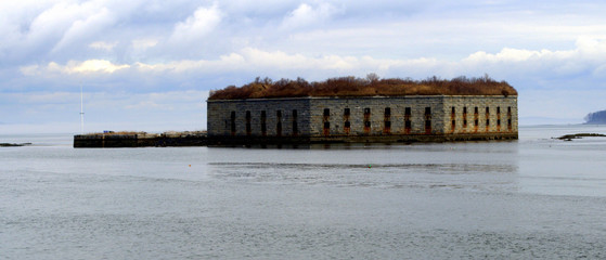 Fort Gorges George  Portland Maine USA