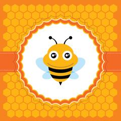 Cute bee. Vector illustration.
