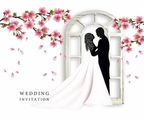 Свадьба. Жених и невеста. Приглашение