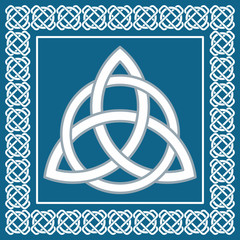 Ancient symbol triskel, traditional celtic knot,vector