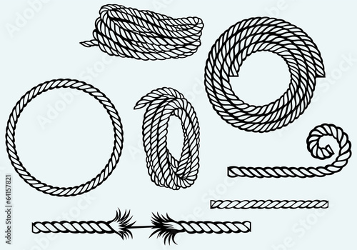 Nautical rope knots - 64157821
