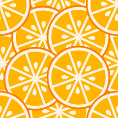 Orange slices seamless pattern