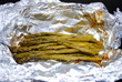 Fresh Asparagus Cooked in a Foil Pouch