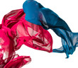 abstract pieces of textile motion