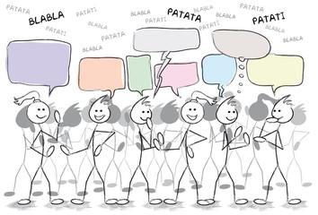 groupe de personnes qui discutent