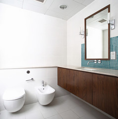 interior of modern toilet in european style
