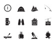 Silhouette travel, Tourism, vacation and mountain objects