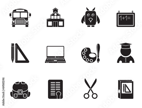 Silhouette School and education objects