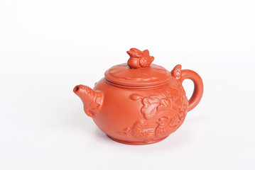 Chinese teapot from red clay