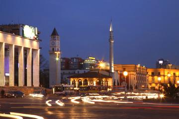 Skanderbeg Square in Tirana. Albania