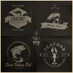 Sea animals badge collection