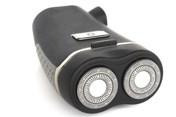 Close up on an electric razor