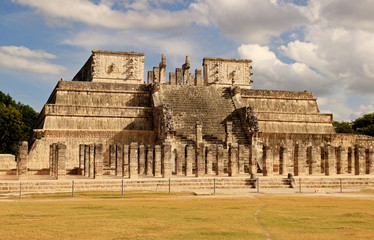 Temple of Warriors in Chichen Itza, Mexico