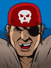 Pirate laughing