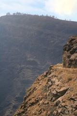 abismo a la entrada del barranco de Mogan en Canarias
