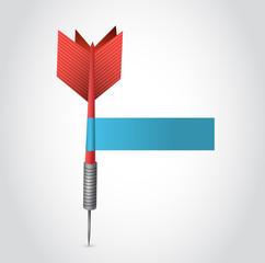 red dart and paper sign illustration design