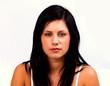 beautiful young woman looking at camera