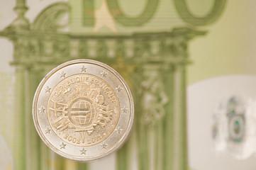 Two euro coin.