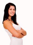 beautiful teen woman smiling