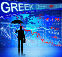 Businessman Facing Greek Debt Crisis