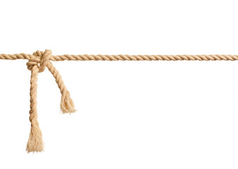 Rope knot on white background