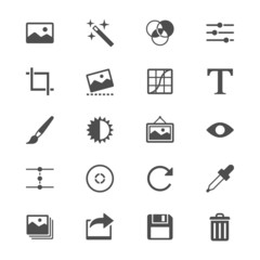 Photography flat icons