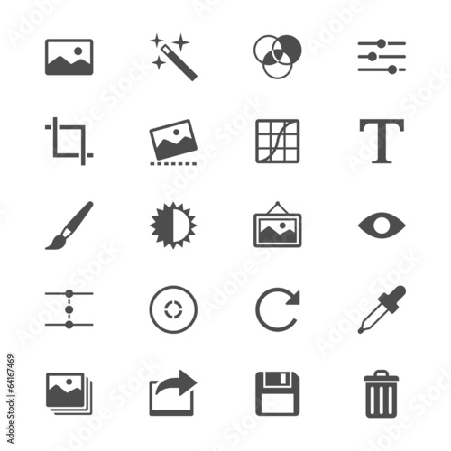 Photography flat icons