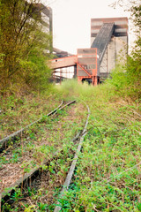 Abandoned coal mine railway access Essen Germany