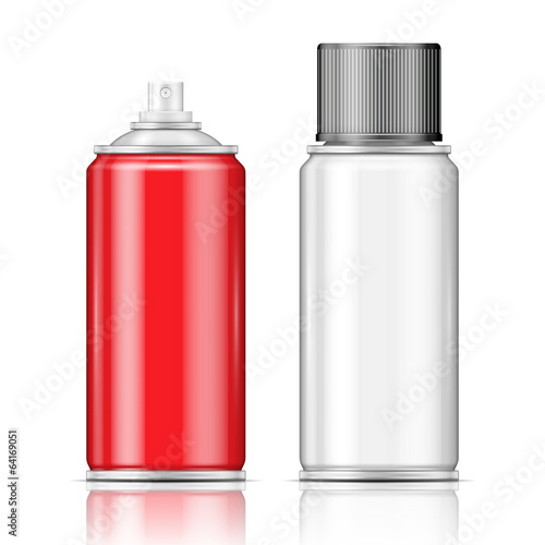 Aluminium spray cans.