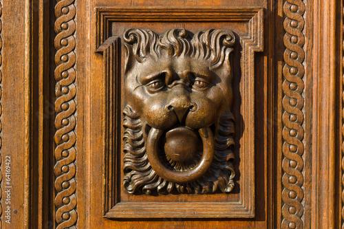 Staande foto Praag Decoration vintage gate of the Old Town Hall. Prague.