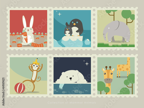 Stamps of mammal animal-2