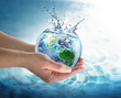 Leinwanddruck Bild - water conservation in the our planet - Usa