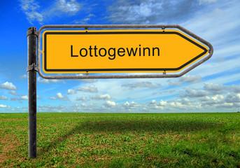 Strassenschild 17 - Lottogewinn