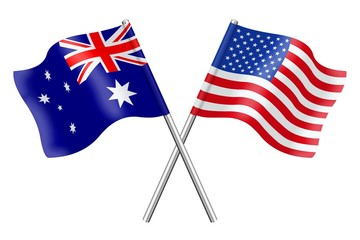 Flags: Australia and United States of America