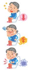 排便 快便 便秘 下痢 高齢者 女性