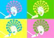 female singer pop art style