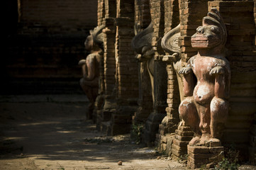 détail de temple de Bagan, Myanmar