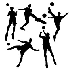 silhouette of Soccer football player