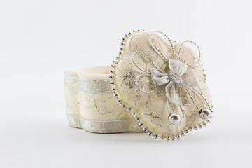 White ceramic gift.