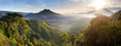 Leinwanddruck Bild - Panorama of Batur and Agung volcano mountain Bali, Indonesia