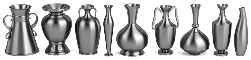 realistic 3d render of antique vases